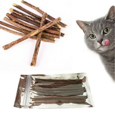 5-20x Cat Snacks Matatabi Chew Catnip Stick Teeth Molar Cleaning Brush Toy @L
