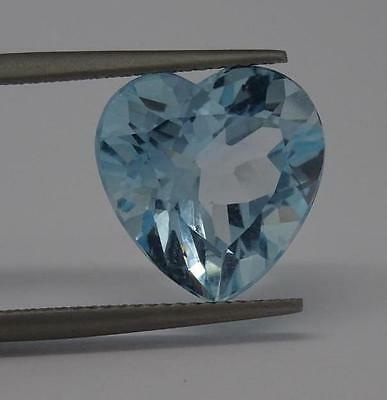 ***Beautiful Natural 8.7ct Blue Topaz Heart Cut Gemstone***
