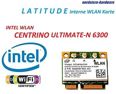 Dell WiFi WLAN 6300 CENTRINO ULTIMATE-N Latitude E6330 E6430 E6530 M4700 M6700