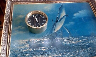 Nautical Style Vintage wall Clock. Mains voltage. Keeping good time. rare