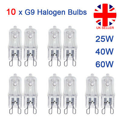 10PCS G9 Halogen Replacement Bulbs 60W 40W 25W Clear Capsule 240V Warm White L4U