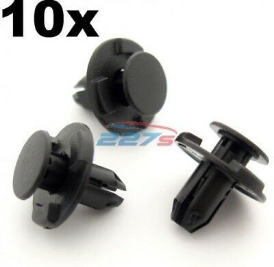 10x 8mm Hole, Boot & Trunk Trim Clips- Fits Nissan Qashqai, Juke, Pathfinder etc