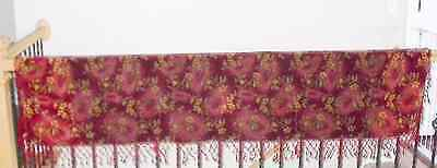 Antique Red Velvet Piano Scarf Coverlet Blanket Fabric Victorian Edwardian Art