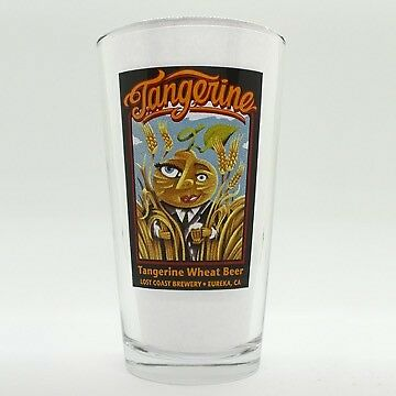 Tangerine Wheat16oz Pint Glass~Lost Coast Brewery~