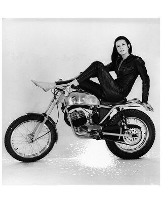 1968 ? Puch Motorcycle & Female Model Factory Photo cb1715