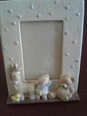 Baby Frame w/ Storage for extra pictures, includes Giraffe, Rabbit, Bear & Duck