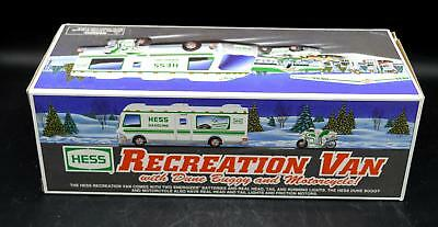 New Hess Gasoline 1998 Recreation Van With Dune Buggy & Motorcycle - In Box