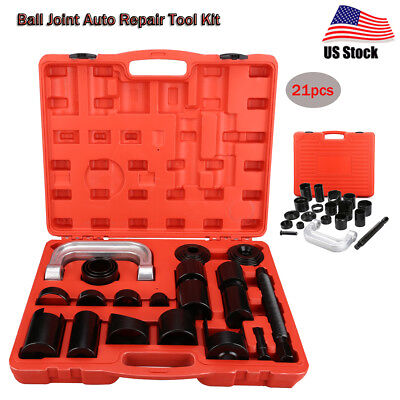 21Pcs Ball Joint Auto Car Repair Hand Tool Kit Remover Installer Master Adapter