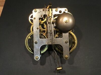 Antique gilbert  Clock movement  spares or repair
