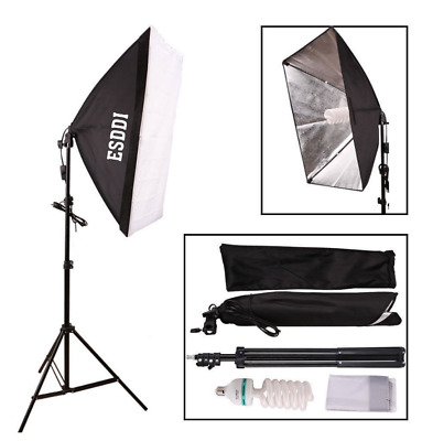 PAIR OF ESSDI Softbox Continuous Photography Studio Lighting Lamps (Only 85w)