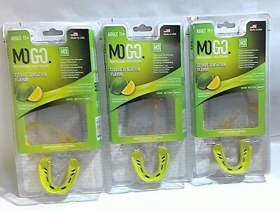 MoGo M1 Adult orange flavor sports mouthguard flavored sport mouth football