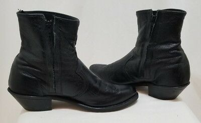 21a11f2e401 Abilene Mens Western 11quot Tan and Dark Brown Cowhide Boots Item
