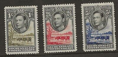 Bechuanaland  Sg 125/7  From 1938 Gvi Set   Mounted Mint  Fine Appearance