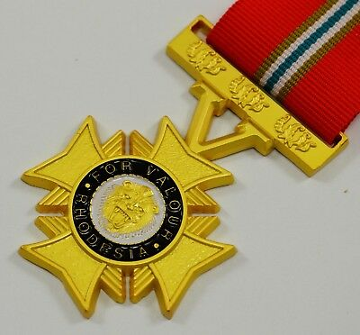 Full Size Grand Cross of Valour Rhodesia Service Medal with Ribbon Highest Decor