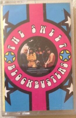 "THE SWEET  ""BLOCKBUSTERS""cassette tape, RCA BMG  NK74313 Issued 1989 Glam Rock"