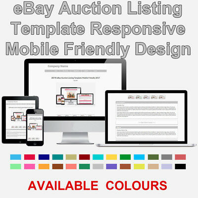 Silver Grey eBay Auction Listing Template HTML Responsive Mobile 2018