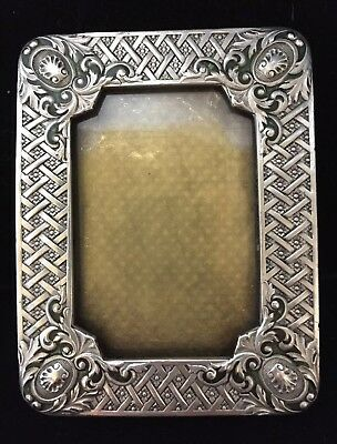 Vintage signed French enamel small picture photo frame 'Catherine Popesco'