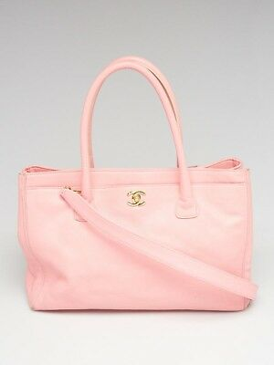 b0d3857d84e AUTHENTIC CHANEL LIGHT Beige Leather Cerf Large Shopping Tote Bag ...