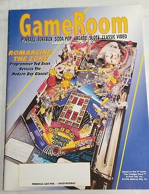 GameRoom Magazine Vol 11 No 2 Pinball Arcade Twilight Zone Bally Williams Midway