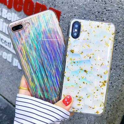 Luxury Bling Shockproof Soft Silicone Phone Back Case Cover For iPhone X 6s 7 8+