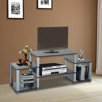 TV Stand Shelf Unit Table Shelving LCD Plasma Audio Book Desk Organizer Cabinet