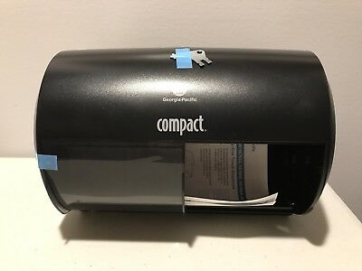 Georgia Pacific Pro Compact Black Side-By-Side Toilet Paper Tissue Dispenser