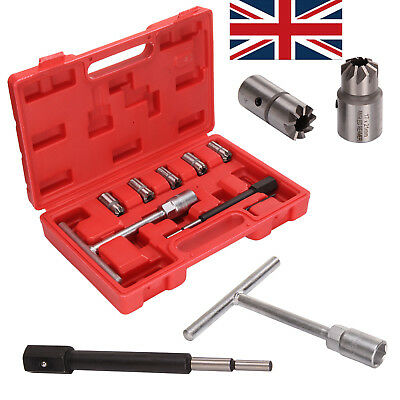 7pcs Diesel Injector Seat Cutter Cleaner Carbon Remover Universal Car Tool Kit K