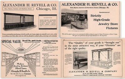 Ad Lot Of 4 1902 - 09  Ads  Alexander Revell Co Show Case Builders
