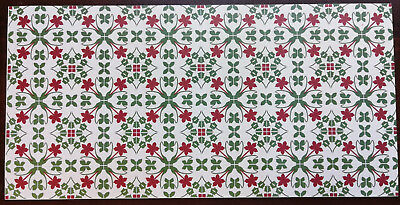 Dollhouse Miniature Red Green Tile Flooring Sheet 1:12 Scale Break Off Pieces
