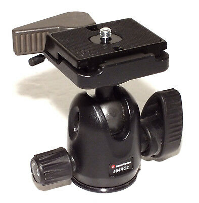 Manfrotto 494RC2 Mini Ball Head with RC2 Quick Release - NEAR MINT - VERY NICE !