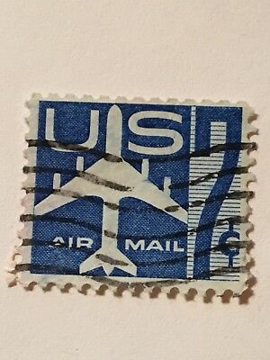 US Used Old Air Mail 7 Cent Stamp 990