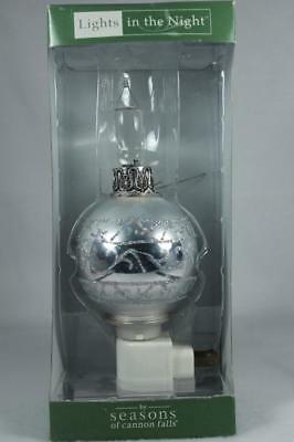 Midwest Lights In The Night 'Silver Ornament' Night Light Swivel Plug Base NIB!