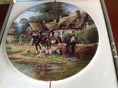 LUNCH BREAK  from  COUNTRY DAYS by Chris Howell  WEDGWOOD COLLECTORS PLATE
