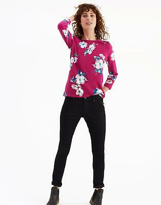 Joules Harbour Print Jersey Top Shirt in Ruby Poppy