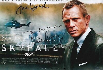James Bond Authentic Signed Cast 007 12X8 Photo Aftal#198