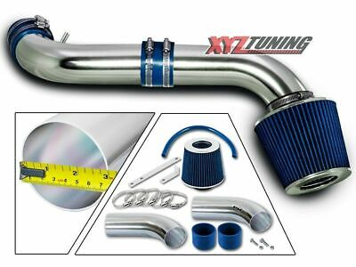 BLUE Short Ram Air Intake Kit + Filter For 99-04 Grand Cherokee 4.7L V8