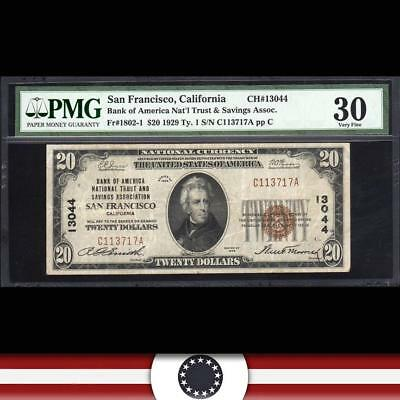 1929 $20 SAN FRANCISCO, CA National Currency PMG 30   C113717A