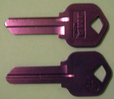 2 Lilac Blank House Keys For 5 Pin Kwikset Lock Kw1 Can Be Punched To Your Code