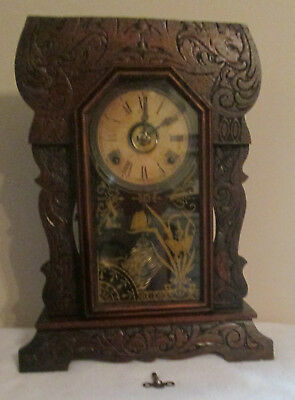 Sessions American Ginger Bread Kitche Mantle Clock with Alarm USA