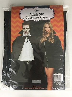 "Black Adult 56"" Halloween Vampire Witch Costume Cape 10% Polyester 142cm New"
