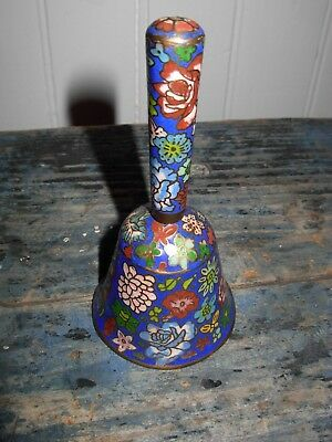 CLOISONNE DECORATED ANTIQUE CHINESE BELL CIRCA 1920s NR
