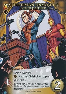 PETER PARKER Upper Deck Marvel Legendary SPIDER-MAN UNMASKED