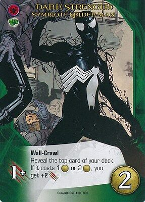 SYMBIOTE SPIDER-MAN BLACK COSTUME 2014 Upper Deck Marvel Legendary DARK STRENGTH