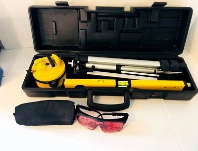 Contractors Laser level Kit with Tripod and Safety Glasses w/ Carry Case