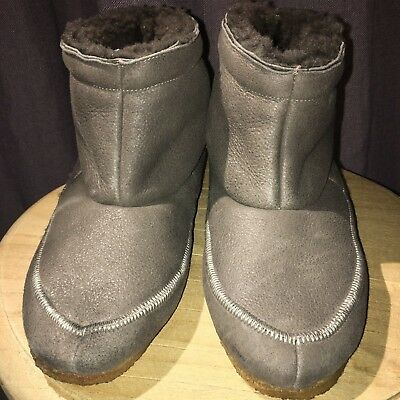 Golden Goose Deluxe Brand Slouch Leather Bootie 39 Taupe GGDB Italy Comfort Boot
