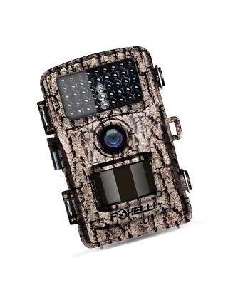 Foxelli Trail Camera –12MP 1080P Full HD Wildlife Scouting Hunting Camera Motion
