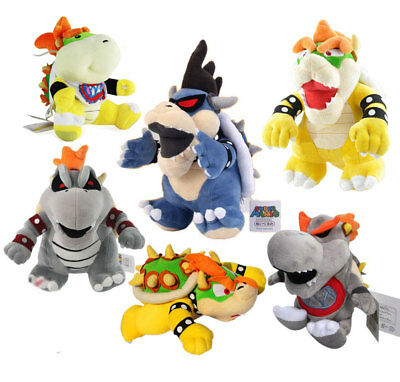 6x Super Mario Bros King Dry Bowser Koopa Jr Koopa Soft Toy Plush X/'mas Doll