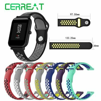 Double Color Wristband Strap for Xiaomi Huami Amazfit bip Youth Smart Watch 20mm
