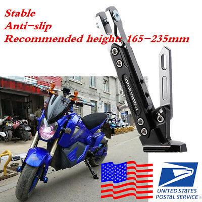 Motorcycle Side Stand Tripod Bearing Up to 500 KG Adjustable Height Anti-Falling