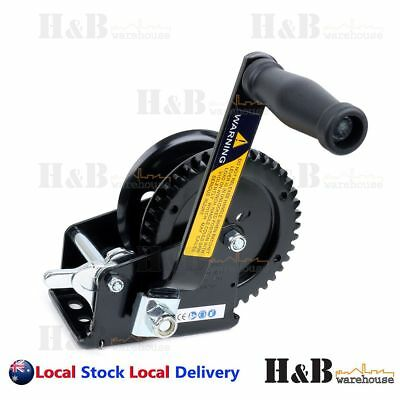 1600 Lbs Hand Winch Certified Solid Precise Gear Taiwan Professional Made